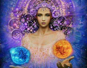 divine, femme, déesse, guérison