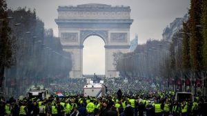 Yellow Vest Movement in Paris-manif