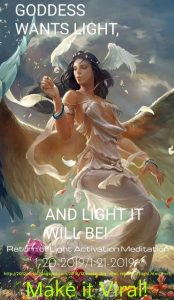 Return of Light meditation poster 1