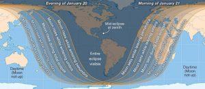 Total Lunar Eclipse path