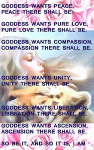 poeme-Goddess wants peace